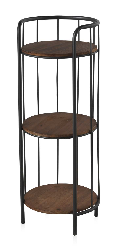 sellette en fer et bois style industriel 3 tag res. Black Bedroom Furniture Sets. Home Design Ideas
