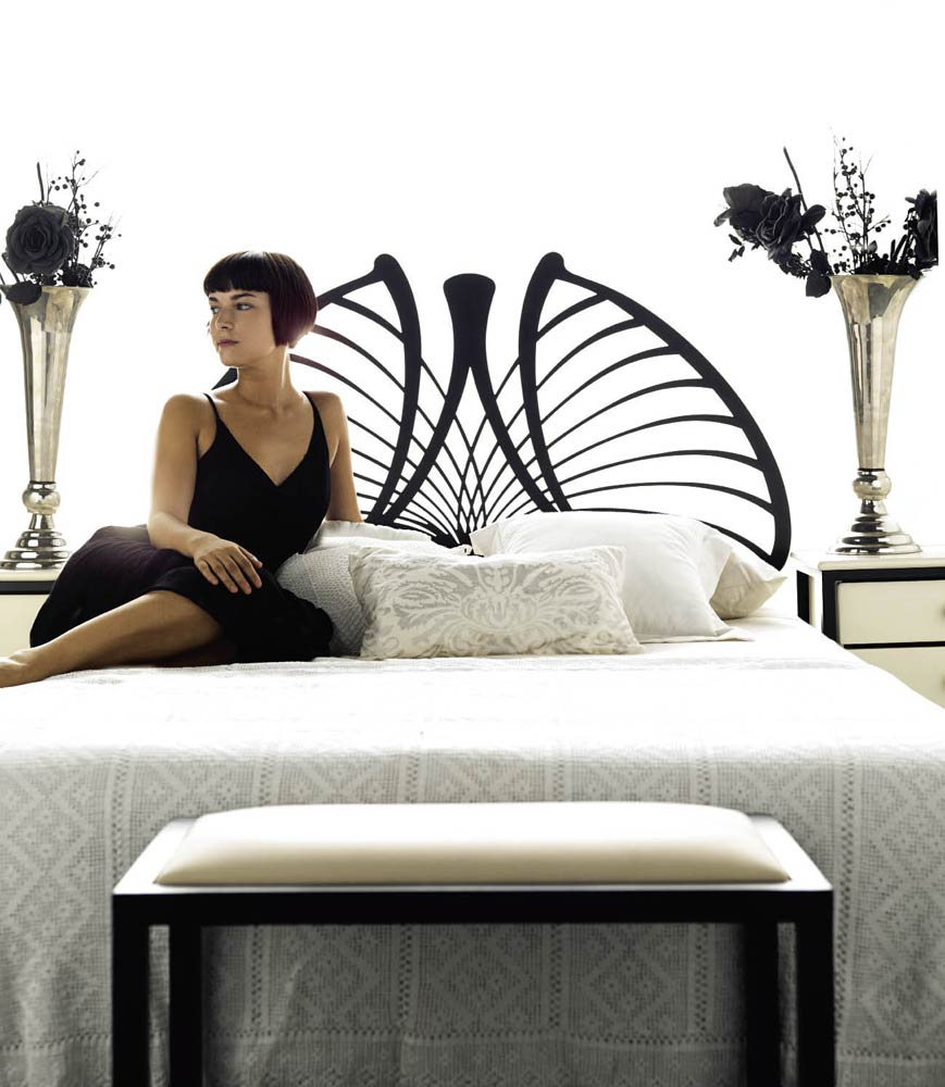 t te de lit style contemporain m tal et fer forg ursula 5849. Black Bedroom Furniture Sets. Home Design Ideas