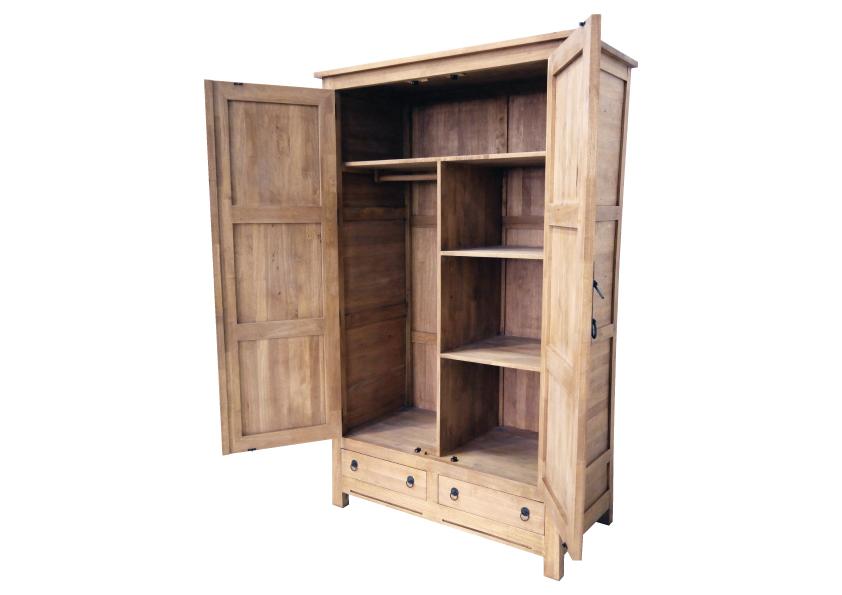 armoire bois 2 portes jorg 5874. Black Bedroom Furniture Sets. Home Design Ideas