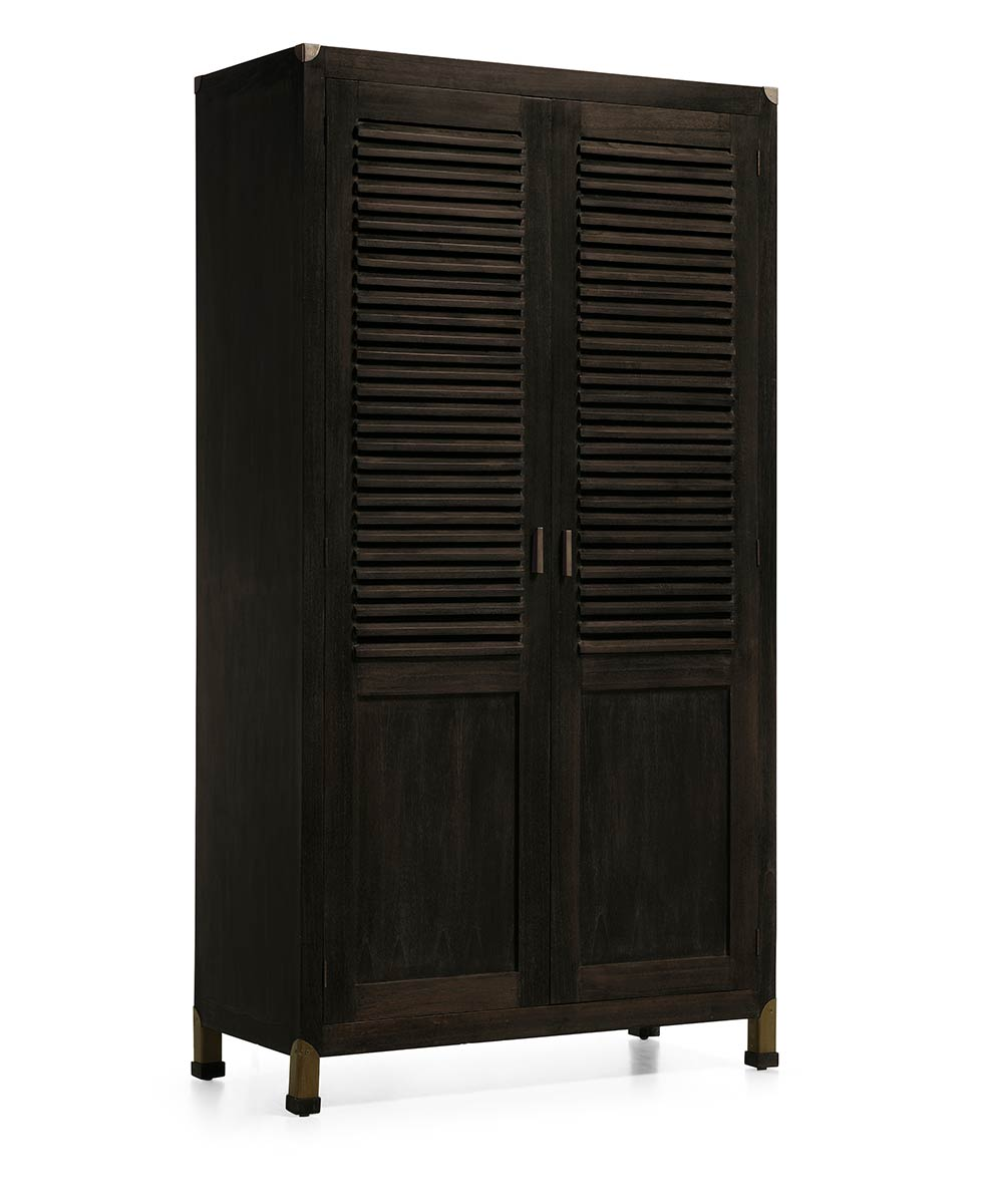 armoire en bois avec penderie int gr e bois de mindy et m tal collection jader. Black Bedroom Furniture Sets. Home Design Ideas