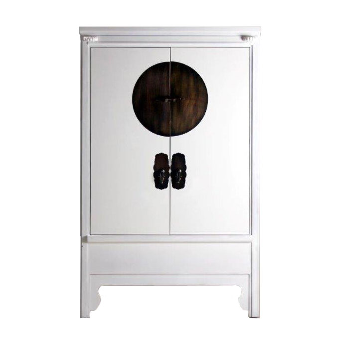 armoire chinoise blanche siete mares 2 portes 3530 - Armoire De Mariage Chinoise