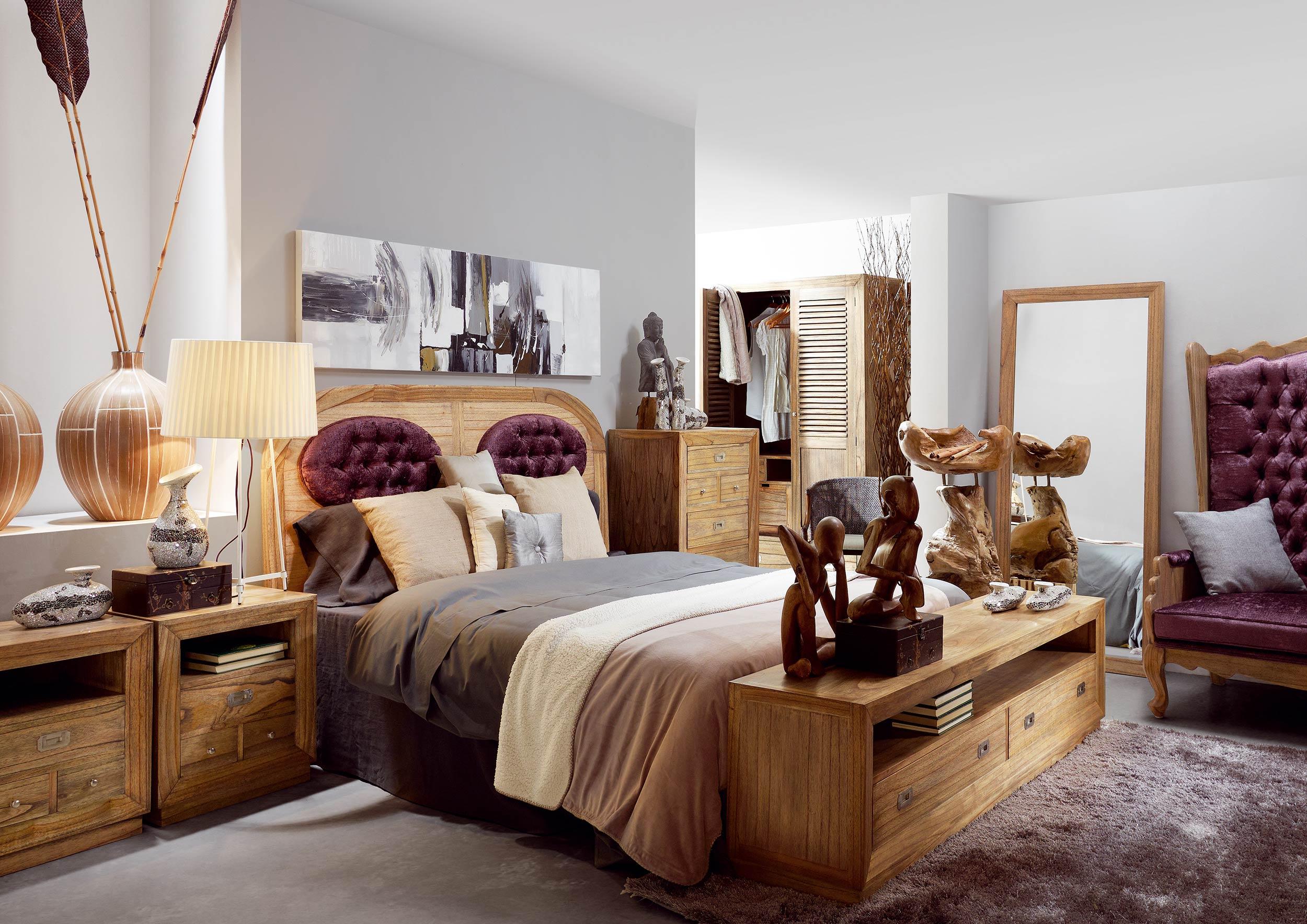 armoire de chambre avec penderie en bois de mindy. Black Bedroom Furniture Sets. Home Design Ideas