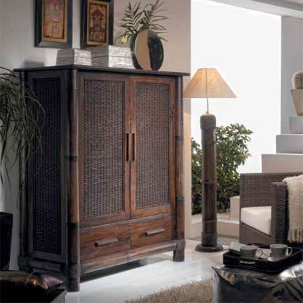armoire tv en bambou wenge tropicana 6330. Black Bedroom Furniture Sets. Home Design Ideas