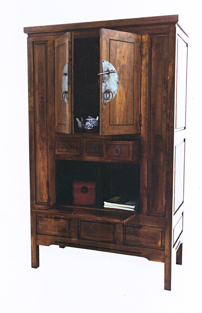Placard bar 3 portes 3 tiroirs 105 50 170 cm for Porte placard 50 cm