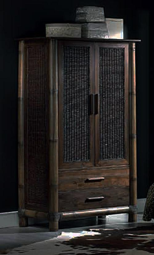 armoire tropicana en bambou et rotin. Black Bedroom Furniture Sets. Home Design Ideas