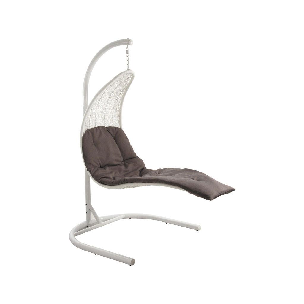 balancelle de jardin blanche acier et polyr sine gasor 3619. Black Bedroom Furniture Sets. Home Design Ideas