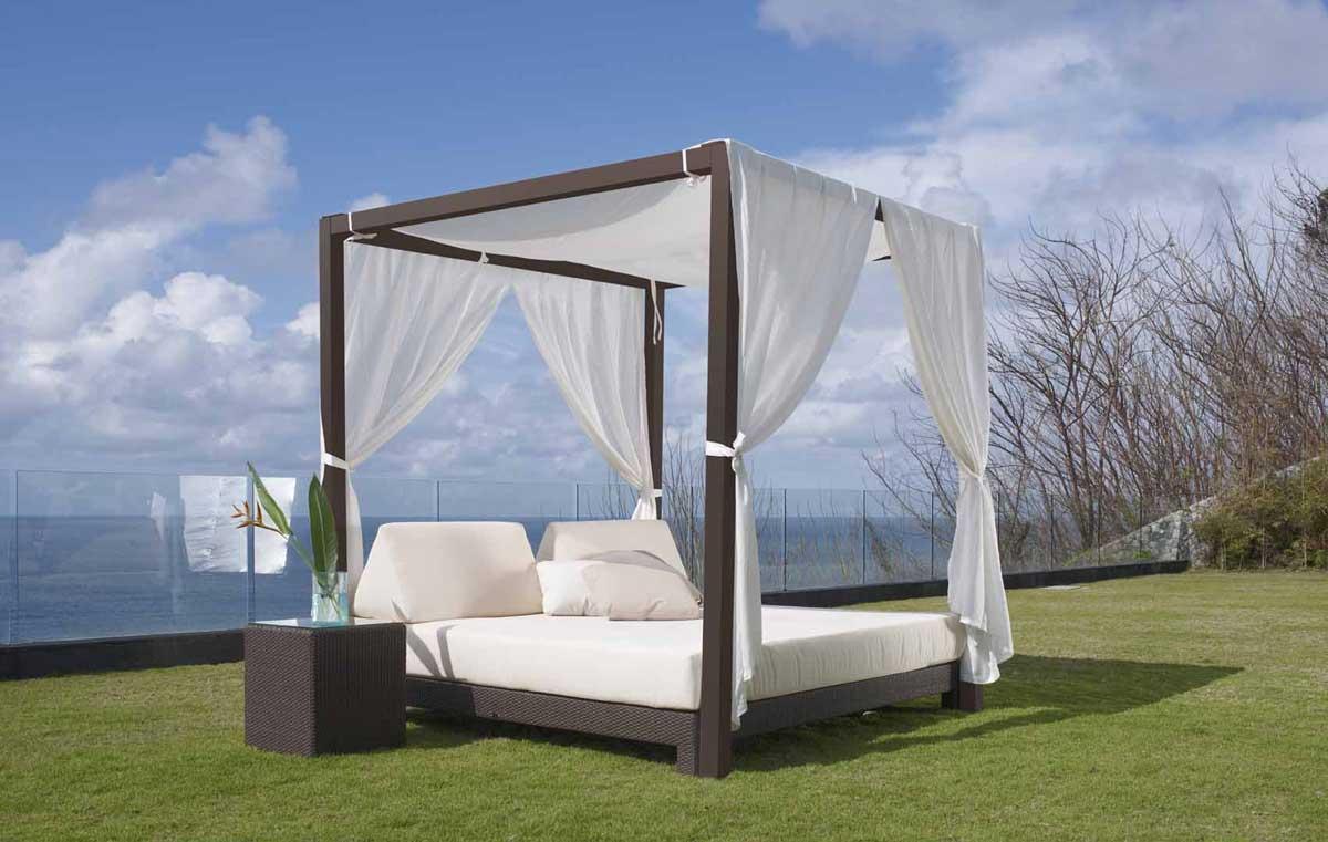 canap 3 places lit de jardin bali 6058. Black Bedroom Furniture Sets. Home Design Ideas