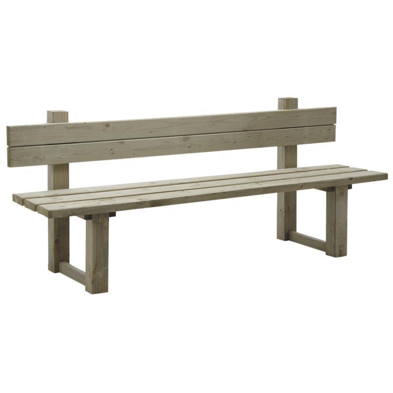 Banc de jardin en bois autoclav for Salon de jardin avec banc