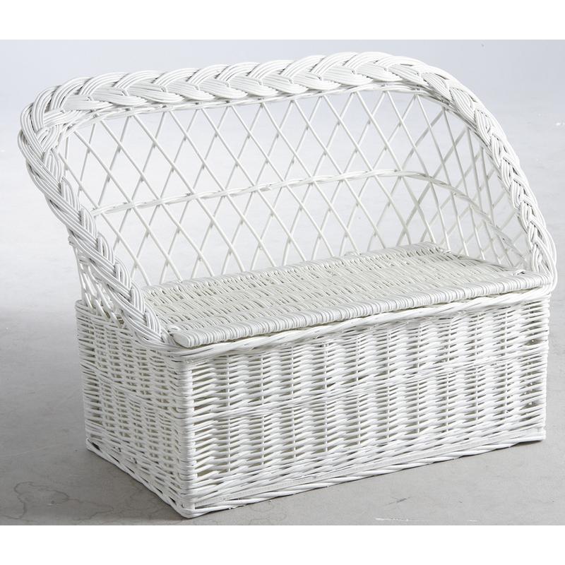 banquette coffre jouets osier laqu 329. Black Bedroom Furniture Sets. Home Design Ideas
