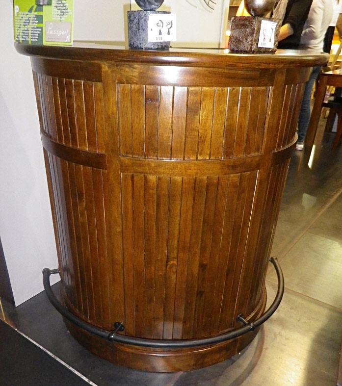 Bar demi lune bois 4980 for Meuble bar merisier