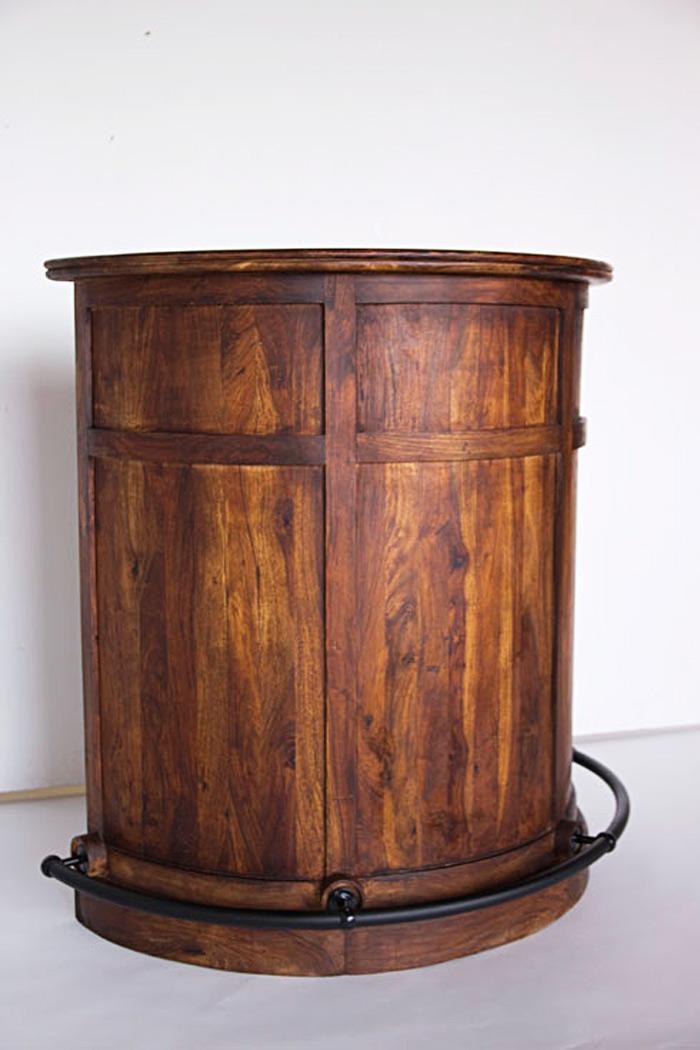 bar demi lune en bois de palissandre et m tal. Black Bedroom Furniture Sets. Home Design Ideas