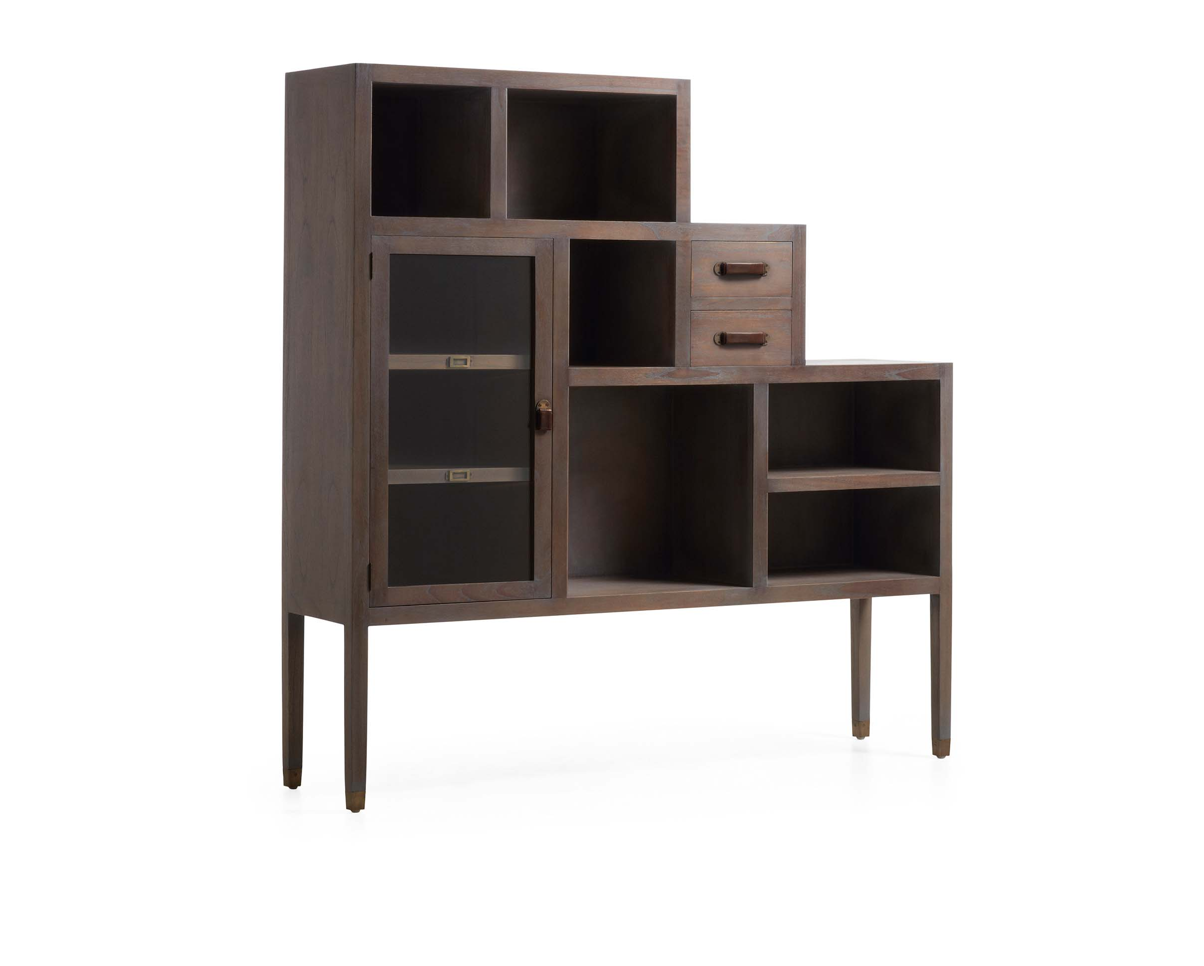 biblioth que haute en meuble d 39 escalier couleur grise bois de mindy collection tana. Black Bedroom Furniture Sets. Home Design Ideas