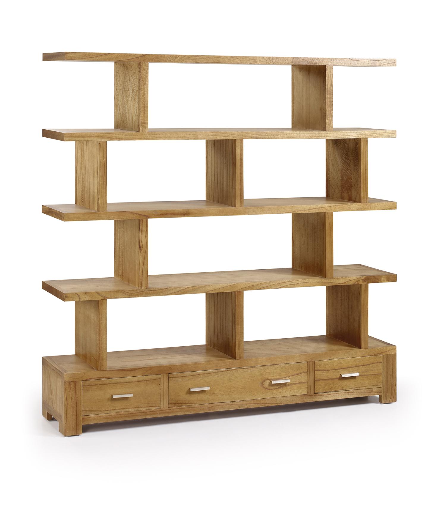 biblioth que de s paration en bois naturel 3 tiroirs. Black Bedroom Furniture Sets. Home Design Ideas