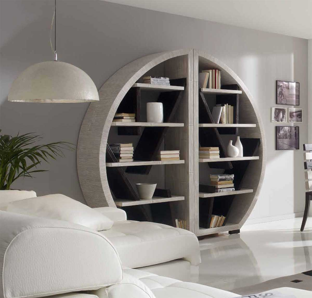 une s paration g niale avec la biblioth que bambou demi lune indah. Black Bedroom Furniture Sets. Home Design Ideas