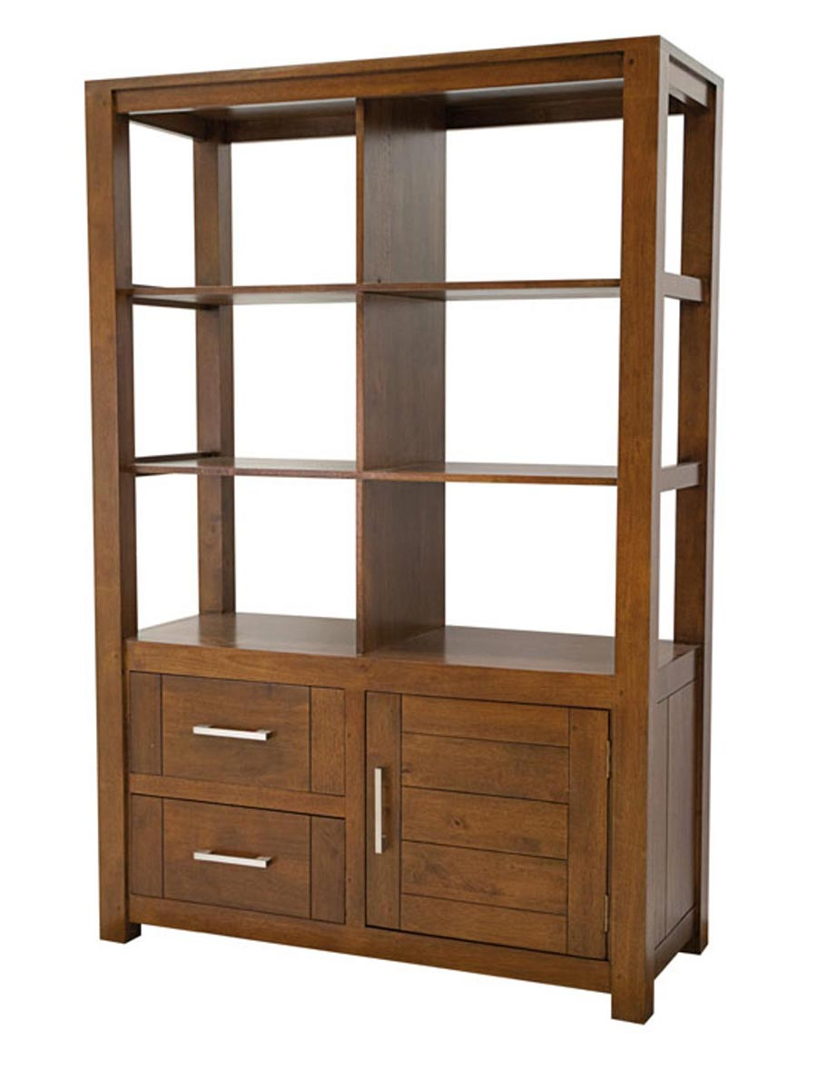 biblioth que en bois esprit contemporain ahor 5186. Black Bedroom Furniture Sets. Home Design Ideas