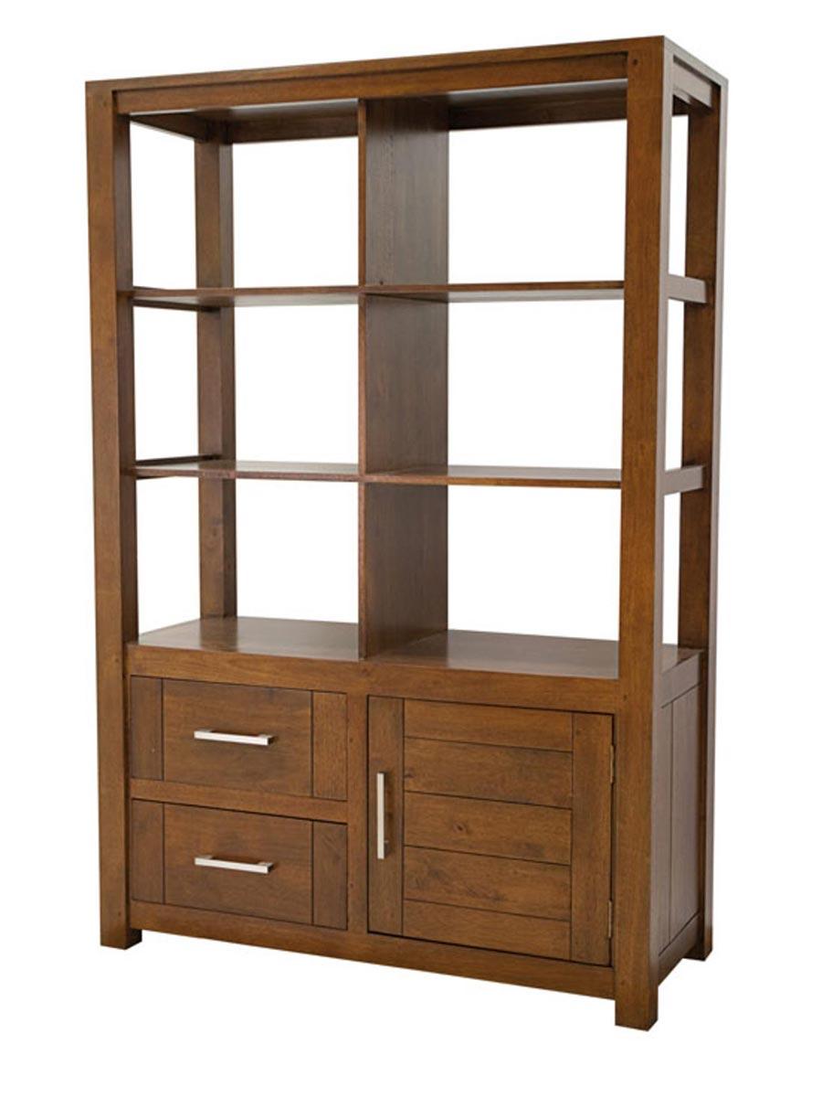 biblioth que en bois esprit contemporain ahor 5186. Black Bedroom Furniture Sets. Home Design Ideas