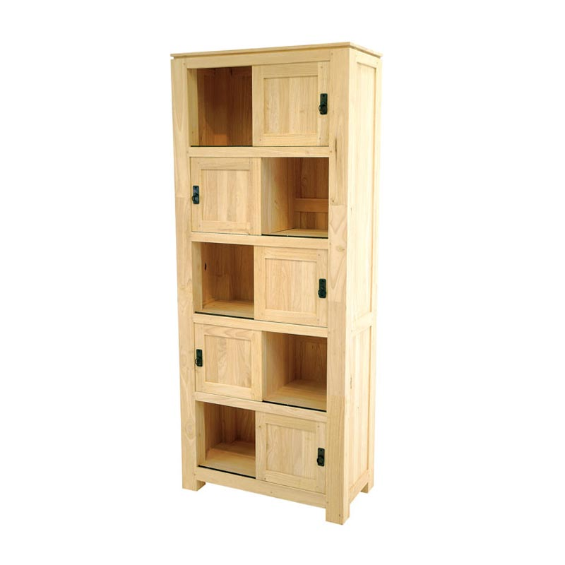 la biblioth que en bois d 39 h v a donne un esprit de voyage au salon. Black Bedroom Furniture Sets. Home Design Ideas