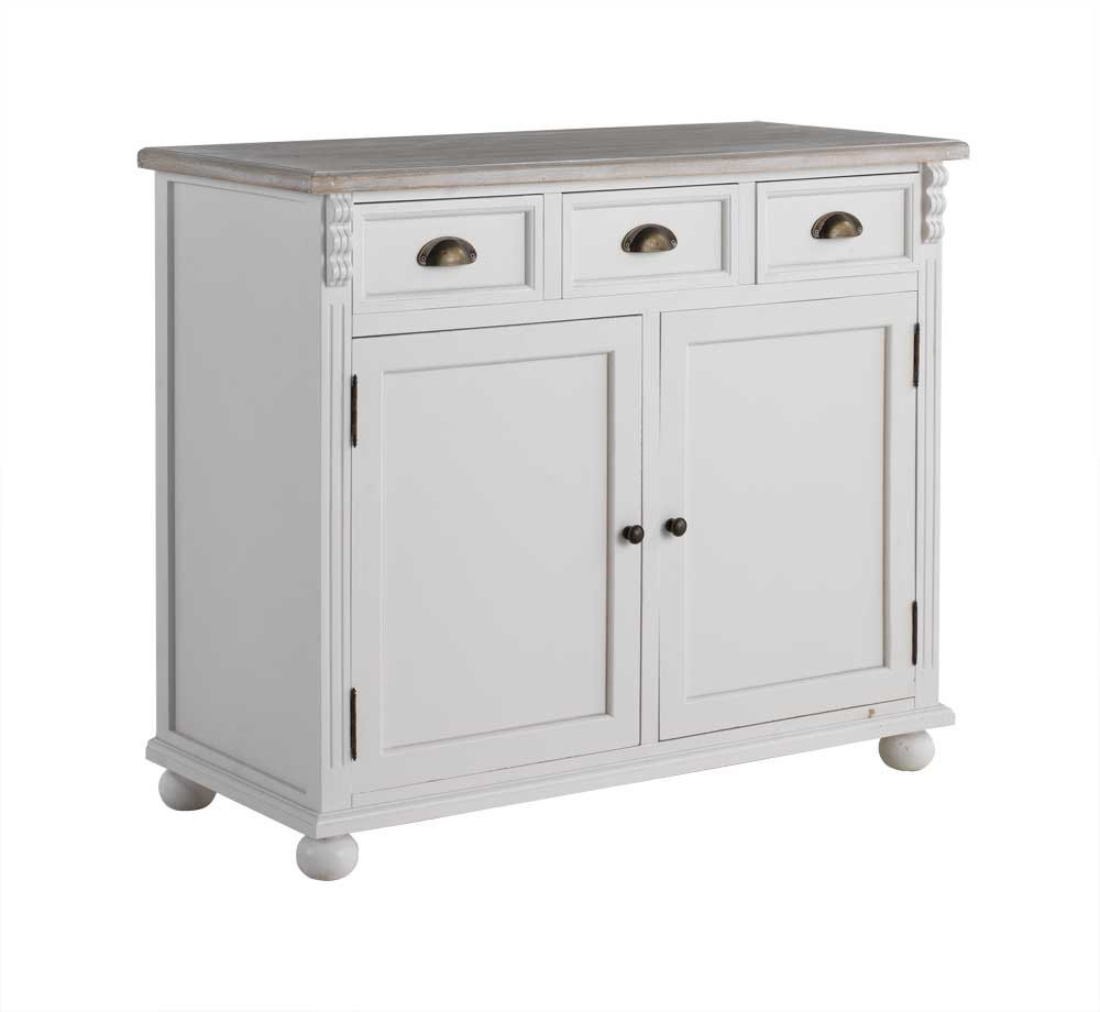Buffet bois blanc style baroque 6427 for Salle a manger table baroque