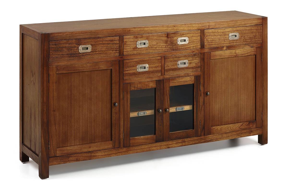 mawan buffet bas en mindi bois massif. Black Bedroom Furniture Sets. Home Design Ideas