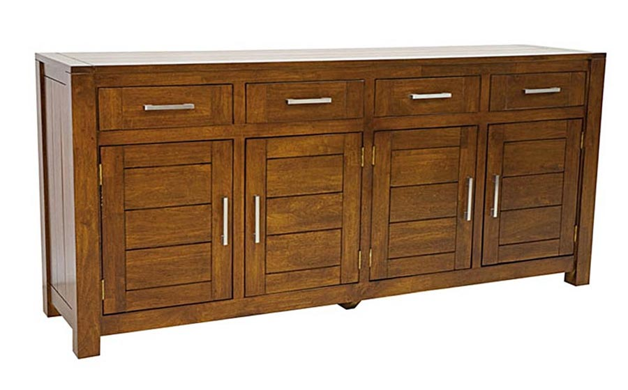buffet enfilade 200 cm en bois recycl personnalisable. Black Bedroom Furniture Sets. Home Design Ideas