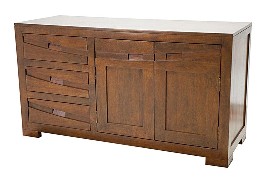 buffet de cuisine en bois 120 cm 6297. Black Bedroom Furniture Sets. Home Design Ideas