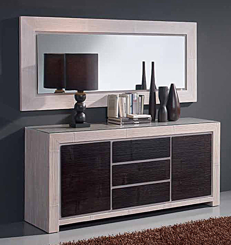 Buffet bambou enfilade indah 5416 for Espejos originales para salon