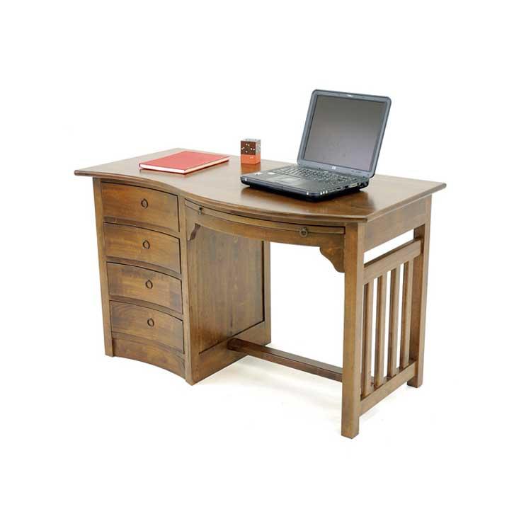 Bureau bois ondine tradition ch ne 4 tiroirs 1 tirette - Bureau bois exotique ...