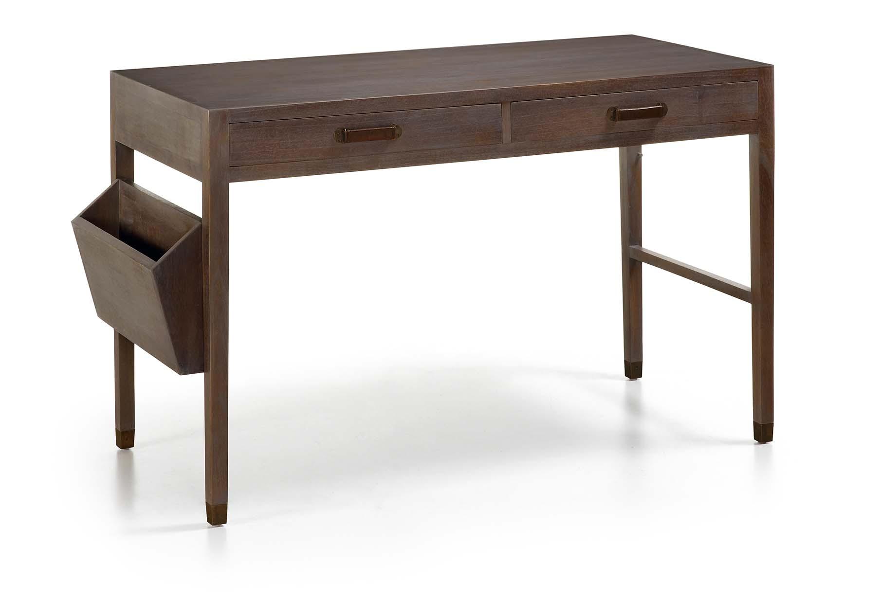 bureau gris avec rangement magazine 2 tiroirs. Black Bedroom Furniture Sets. Home Design Ideas