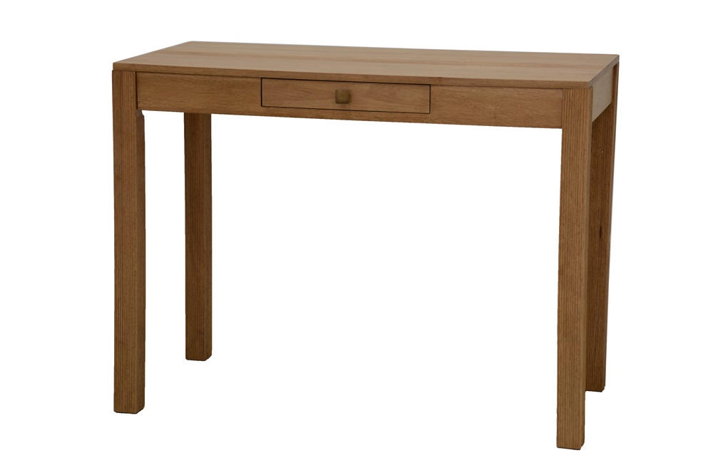 Bureau table 1 tiroir bois 5742 for Table bureau bois