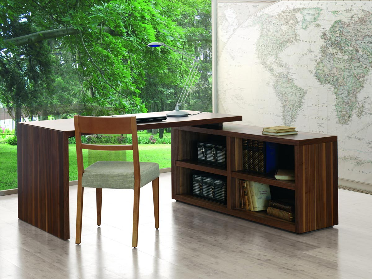 grand bureau biblioth que en bois xesse g om trie rigoureuse fonctionnalisme inventif. Black Bedroom Furniture Sets. Home Design Ideas