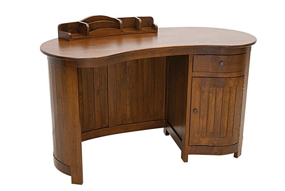 Bureau avec porte et tiroirs haricot 5749 for Bureau haricot