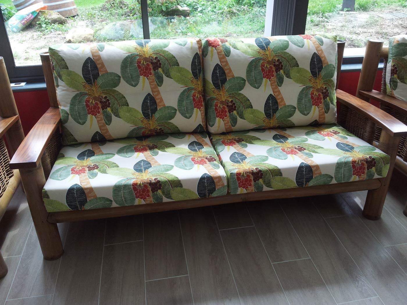 canap bambou et rotin 3 places tropicana miel 6171. Black Bedroom Furniture Sets. Home Design Ideas