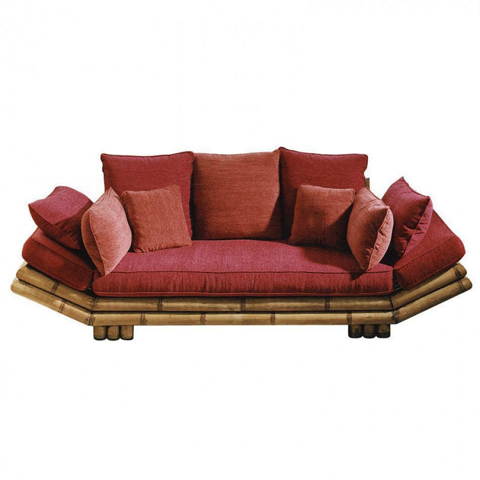 canap bambou naturel patin 2 et 3 places tao 5528. Black Bedroom Furniture Sets. Home Design Ideas