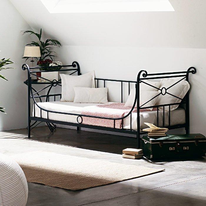 canap lit fer forg 6333. Black Bedroom Furniture Sets. Home Design Ideas