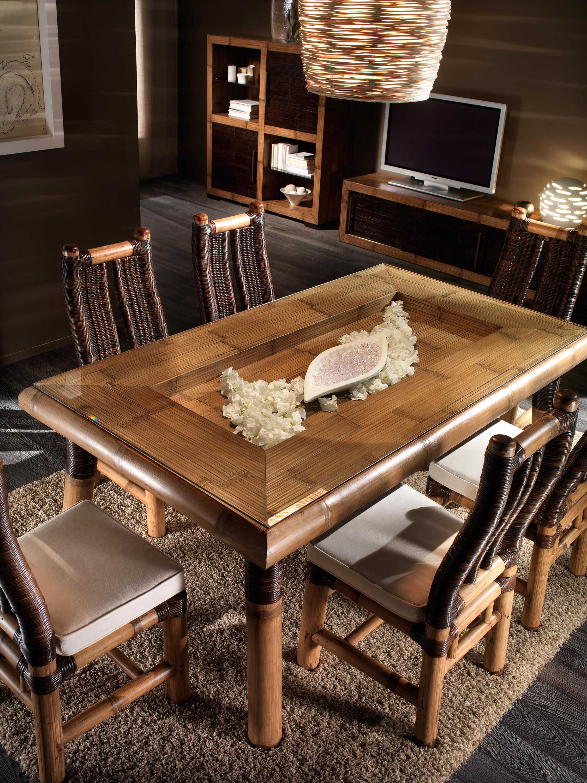 chaise bambou et rotin bambu 3329. Black Bedroom Furniture Sets. Home Design Ideas