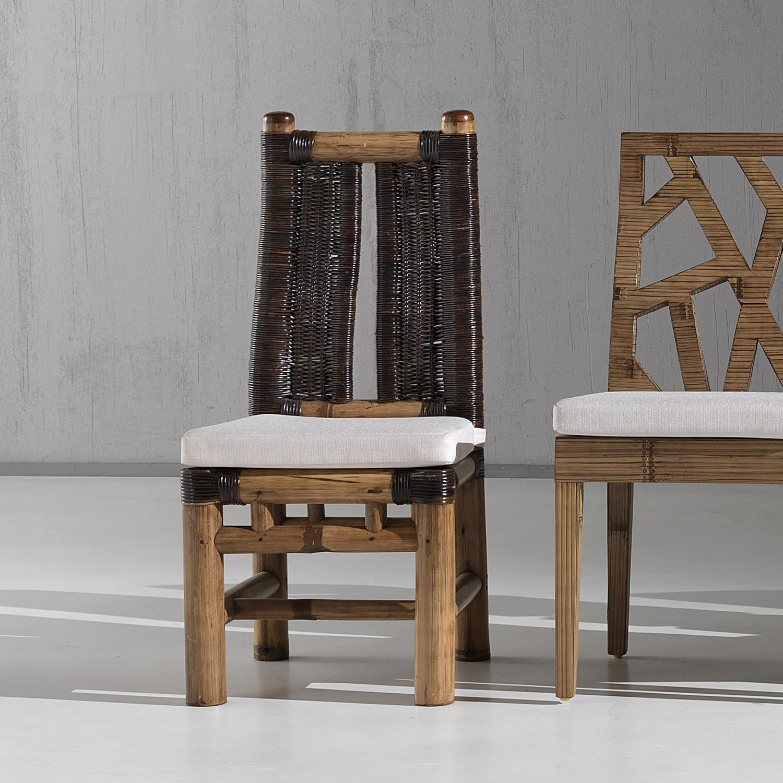 Chaise Bambou Et Rotin Bambu