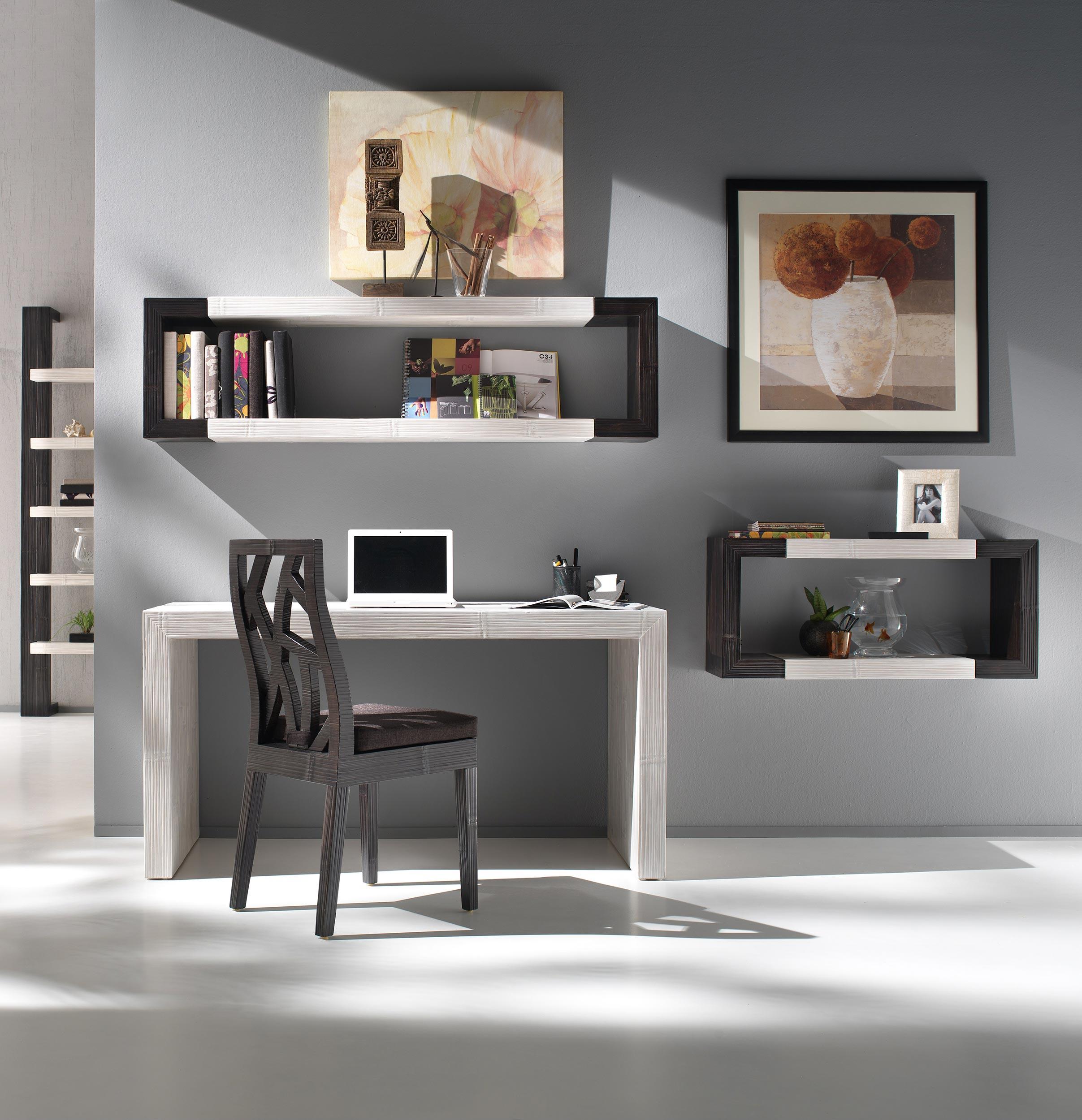 chaise design l 39 esprit contemporain en bambou d roul noir gamme essential. Black Bedroom Furniture Sets. Home Design Ideas