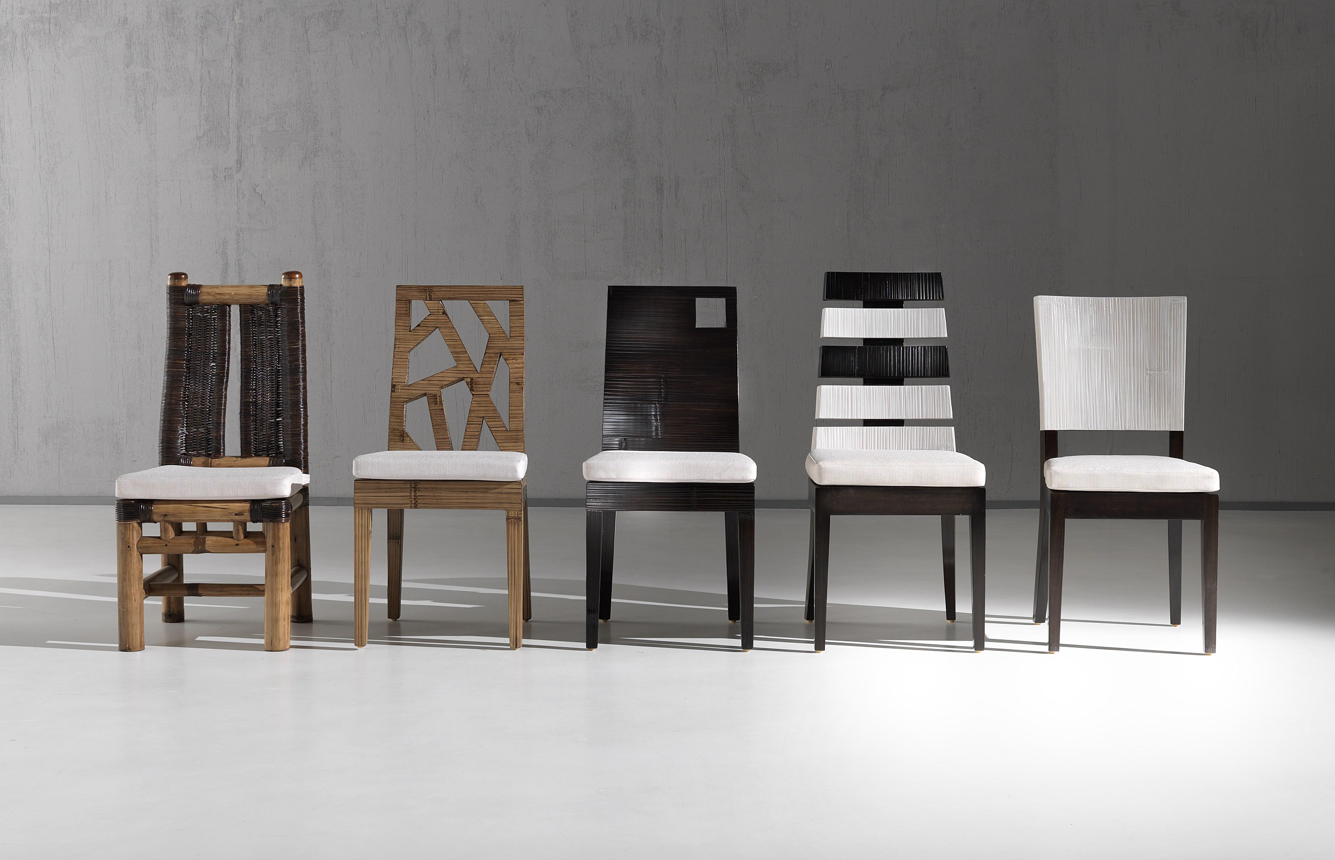 Chaise en bambou d roul couleur au choix collection indah - Sedie da pranzo design ...