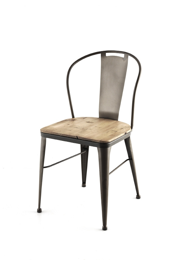 Chaise moderne fer forg uta 5911 for Chaise fer et bois