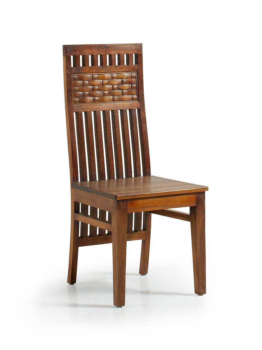 Chaise bois design dossier sculpt tel un tableau for Chaise en bois prix