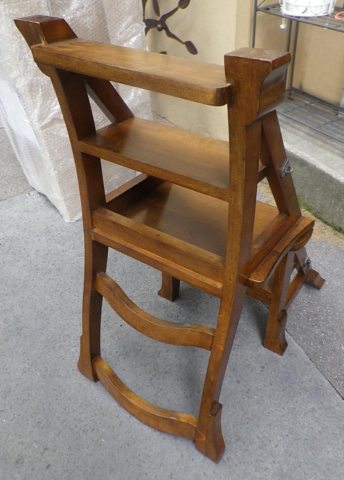 Chaise escabeau bois latest chaise escabeau de libraire for Chaise escabeau