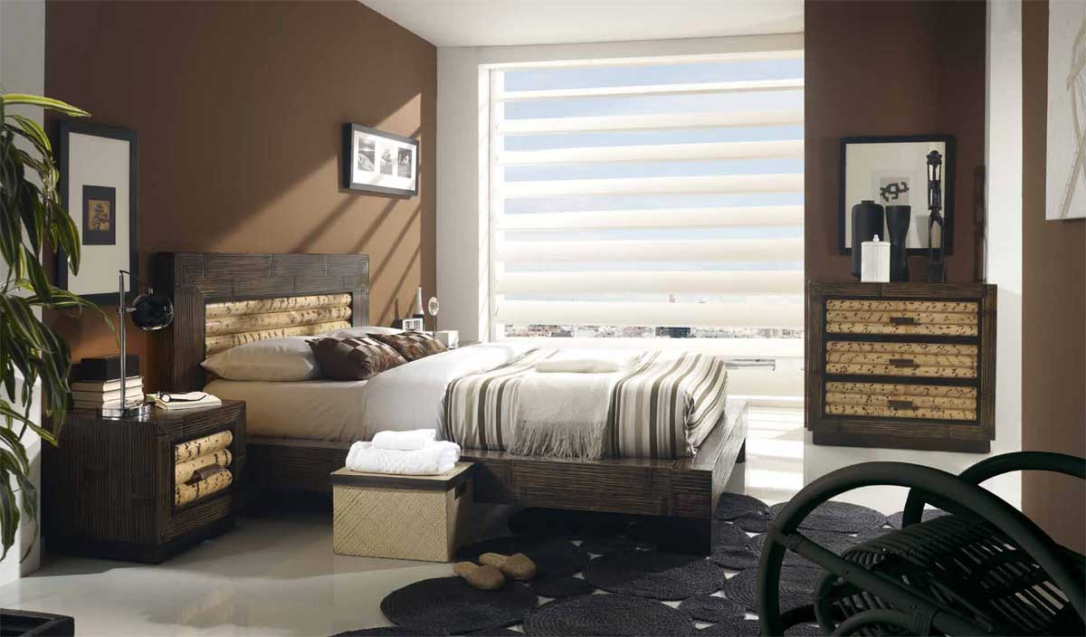 lit bois et bambou rumba dimensions au choix 2737. Black Bedroom Furniture Sets. Home Design Ideas