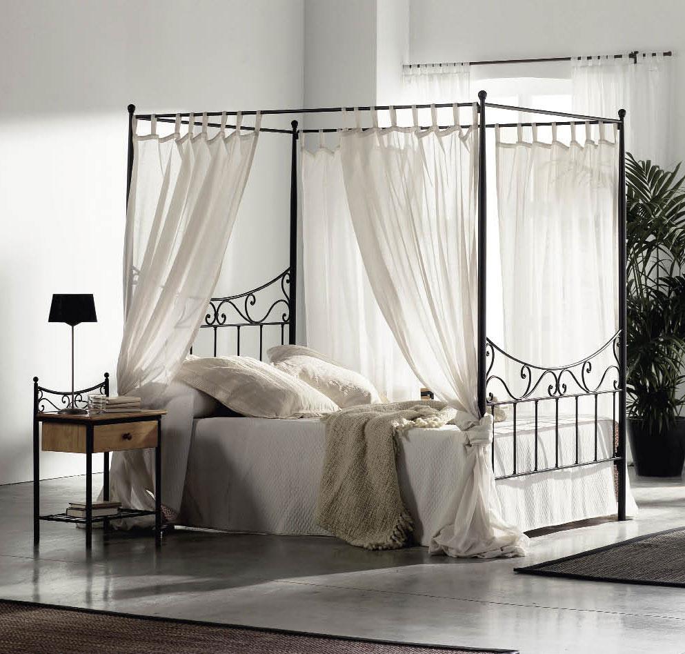 lit baldaquin sur mesure en fer forg wode 6126. Black Bedroom Furniture Sets. Home Design Ideas