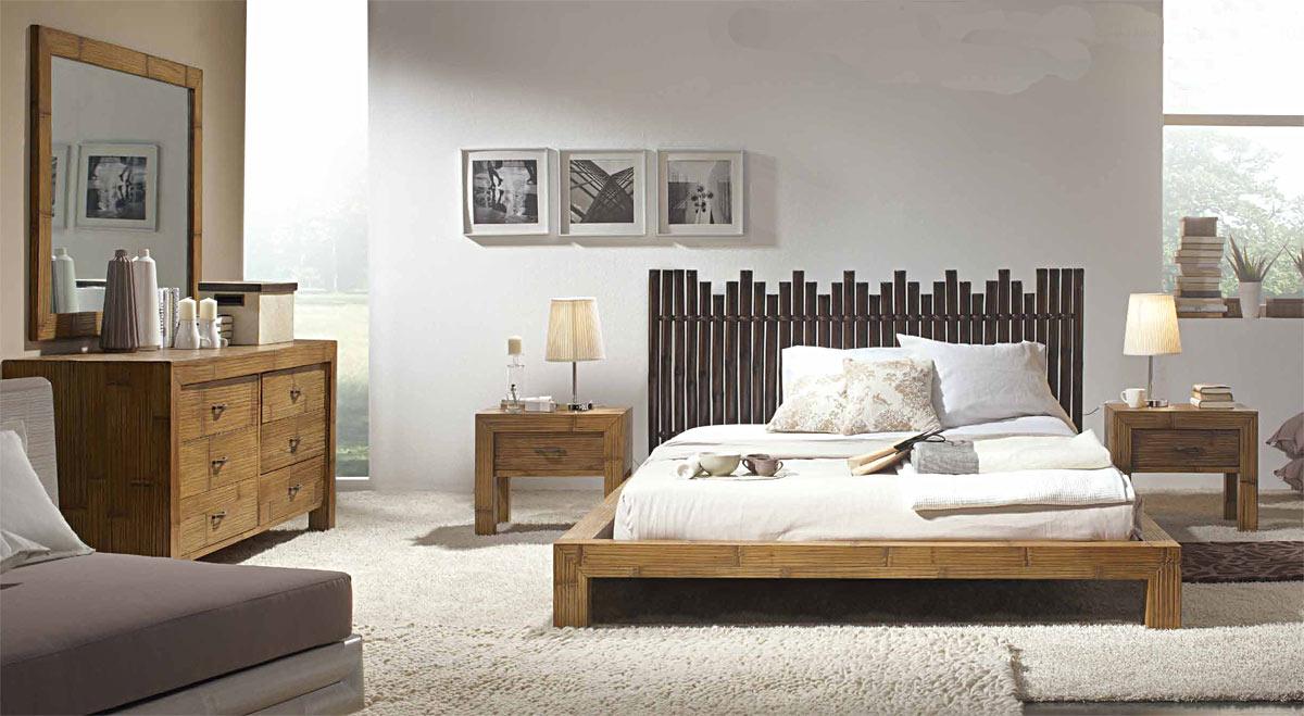 Tête de lit en bambou wengé Palissade #5807