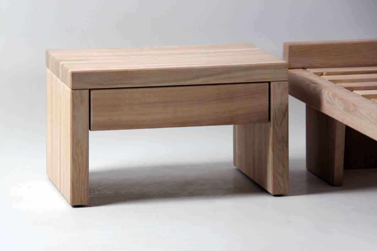 chevet en bois de ch ne 1 tiroir bouquet 5757. Black Bedroom Furniture Sets. Home Design Ideas