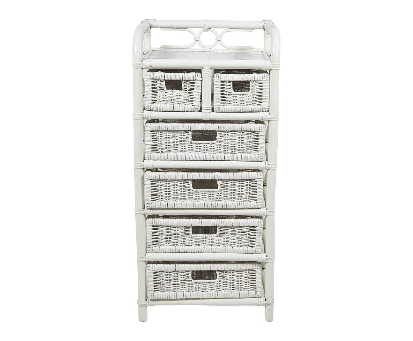 chiffonnier rotin blanc hesp ride 4339. Black Bedroom Furniture Sets. Home Design Ideas
