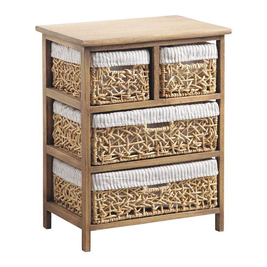 chiffonnier peuplier mais tress coton 4 tiroirs rivir 4753. Black Bedroom Furniture Sets. Home Design Ideas