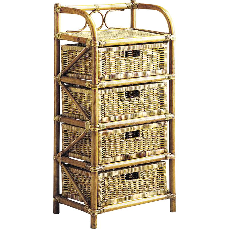 commode rotin 4 tiroirs batsch 369. Black Bedroom Furniture Sets. Home Design Ideas