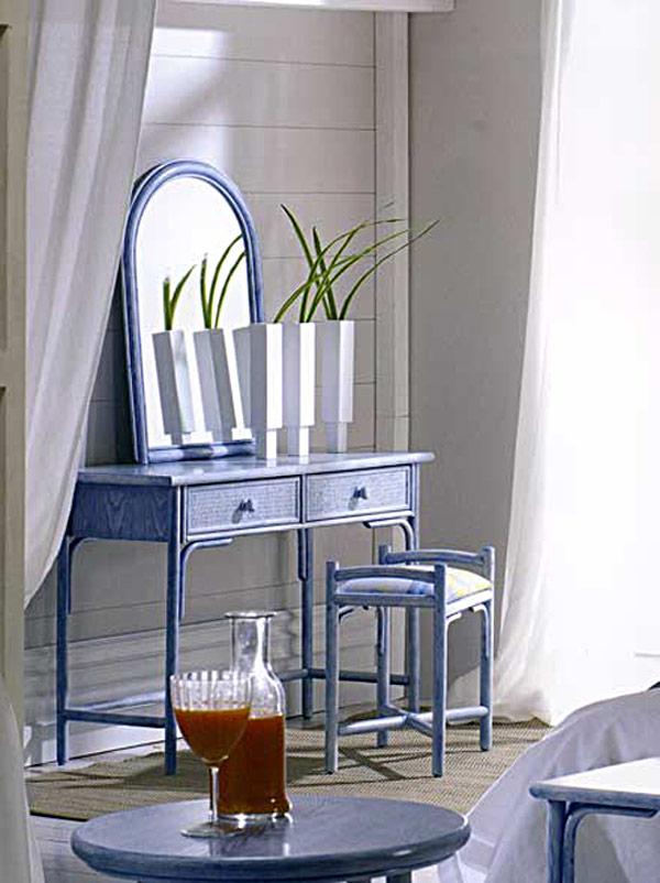 coiffeuse console bureau rotin et bois 4237. Black Bedroom Furniture Sets. Home Design Ideas