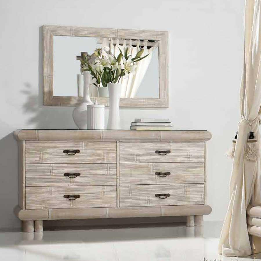 la commode 6 tiroirs en bambou c rus charme et douceur exotique. Black Bedroom Furniture Sets. Home Design Ideas